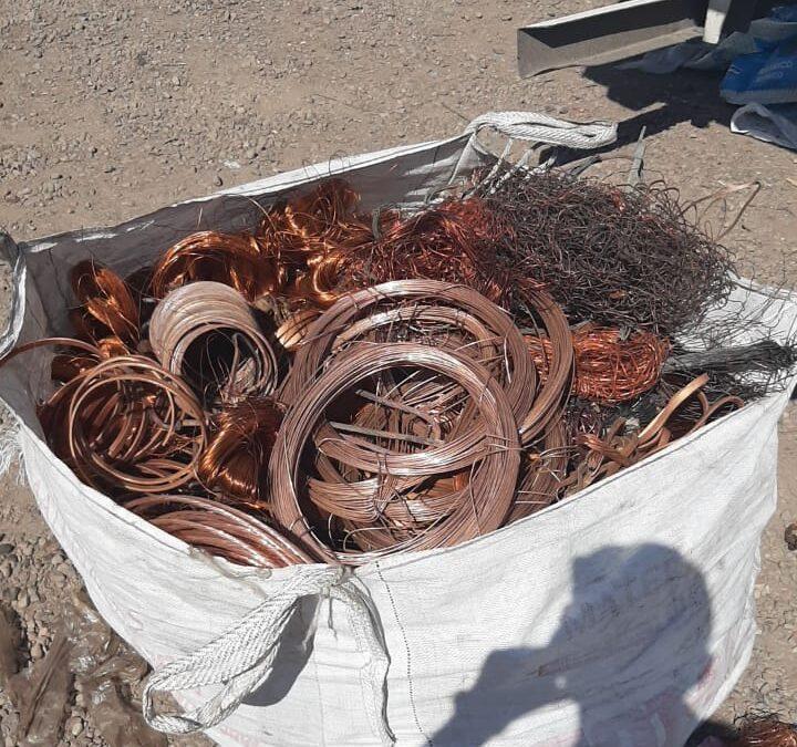Lograron recuperar más de 2500  kilos de cobre robados