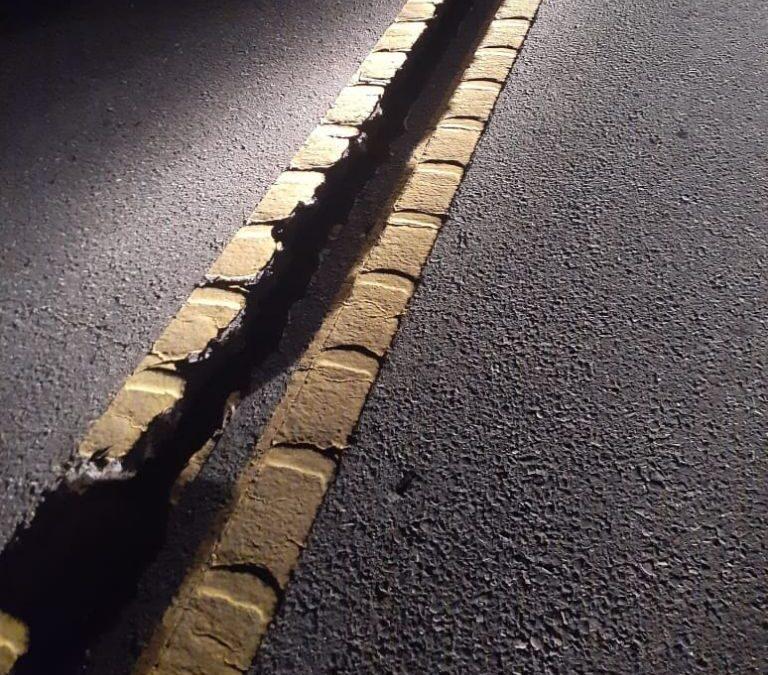 Terremoto: grietas de grandes dimensiones en la Ruta Nacional 40